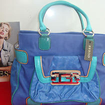 Nwt Guess Indulge Handbag Large by Marciano(multi Blue) Photo