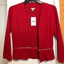 Nwt Guess Red Blazer Jacket Coat-Xs Photo