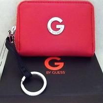 Nwt Guess Ronelle Small Red Wallet With Attached Key Ring and Gift Box Photo