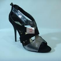 Nwt  Guess Shoes Sandal High Heel Black and Silver Size 9 M Photo
