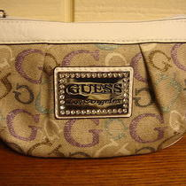 Nwt Guess  Taluca Purple Multi W/ Rhinestone Wristlet 100% Authentic Photo