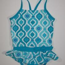 Nwt Gymboree Aqua Summer 5 Swim Suit Blue Tankini Bathing Suit New Retail Photo