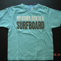 Nwt Gymboree California Surfin' Surfboard Aqua Top 4 Photo