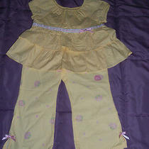 Nwt Gymboreegarden Bloompale Yellow Ruffle Top and Pants Size 4   Photo