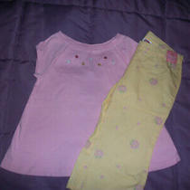 Nwt Gymboreegarden Bloompink Swing Top & Yellow Floral Pants Size 4 Photo