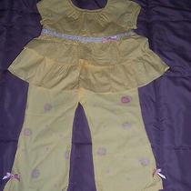 Nwt Gymboreegarden Bloom  Yellow Ruffle Top and Pants Size 4  Photo