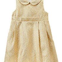 Nwt Gymboree Girl Holiday Shine Gold Dress  6-12 Months Photo