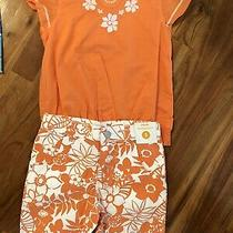 Nwt Gymboree Girls Tropical Bloom Orange Top and Short Size 5 Set Cute Photo