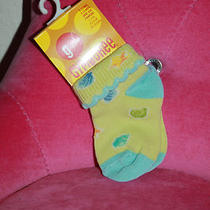 Nwt Gymboree Green Aqua Seashell Print Scalloped Soft (1 Pair) of Socks 3-12mos Photo