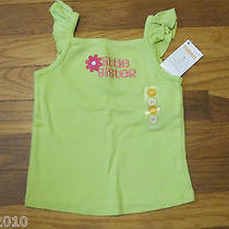 Nwt Gymboree Green Little Sister  Tank Top  Top  Size  2t Photo