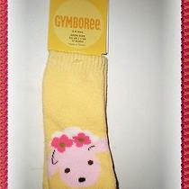 Nwt Gymboree Infant Girls Yellow Sock Pink Lamb Flowers Cotton Rare Summer 6-12m Photo