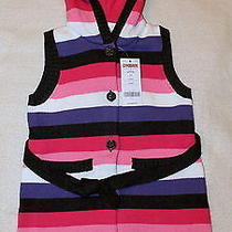 Nwt Gymboree Super Star Striped Sweater Cardigan Hood Xs (3-4) Twins Sister Set Photo