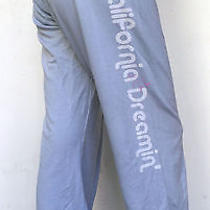 Nwt Gypsy '05 California Dreamin'organic Cotton Sweat Pants in Blue Size Medium Photo