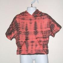 Nwt Gypsy 05 Tie Dye Poncho Hoodie in Coral Sz 4t Photo