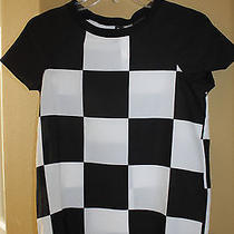 Nwt h&m Conscious Black White Game Time Checkered Top  Blouse Us2/eu32 Photo