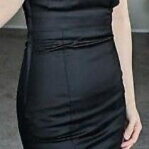 Nwt h&m Fitted Strapless Short Thigh Length Satiny Black Mini Dress Xs 2 Xxs Photo
