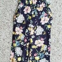 Nwt h&m Girls Blue Sleeveless Floral Long Pants Rompers One-Piece Jumper Sz 7-8 Photo
