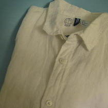 Nwt h&m  Mens  Button-Front  White Shirt  Size Small Photo