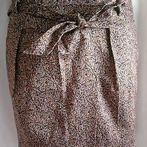 Nwt H & M Multi Color Above Knee Mock Wrap Pleated Straight Skirt Womens Size 8 Photo