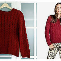 Nwt h&m Women's Red Cable- Knit Sweater S Photo