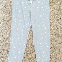 Nwt h&m Womens Light Blue W/ Stars Pajama Pants Lounge Pants Drawstrings Sz S Photo