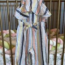 Nwt Habitual Ruffled Stripe Jumpsuit - 18 Months Photo