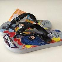 Nwt Havaianas Batman Kids Flip Flop Sandals Us Size 7/8 Eur 25/26 Br23-24 Photo