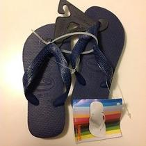 Nwt Havaianas Kids Flip Flop Sandals Us Size 9/10 Eur 27/28 Br25-26 Navy Blue Photo