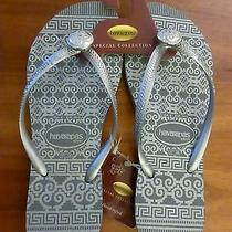 Nwt Havaianas Slim Ceramic Grey Flip-Flop (Women Size 6) Photo