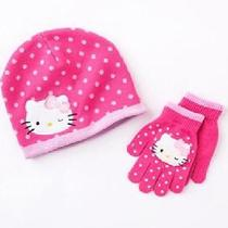 Nwthello Kitty Childrens Hat and Gloves Set Photo