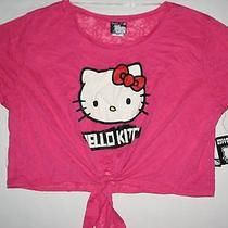 Nwt Hello Kitty Girl Pink See Through Loose Fit Coverup Top Shirt Youth M New Photo