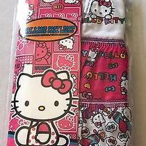 Nwt Hello Kitty Girls 3 Pack Briefs Panty Underwear Size 6 Gift Set  Photo