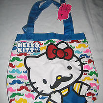 Nwt - Hello Kitty Mustache Tote Bag Loungefly/sanrio (Claire's Excl.) Sold Out Photo