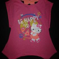 Nwt Hello Kitty Piece Sign Pink Sleeveless Girls Hanker Chief Tunic Shirt 10/12 Photo