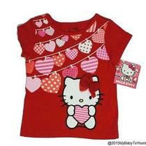 Nwt Hello Kitty Red Ss Heart Laundry Top Size 12 Months Photo