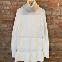 Nwt Helmut Lang Textured Inlay Turtleneck Sweater Dress P Xs S Retailed 565 Photo