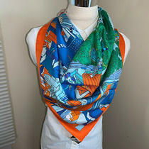Nwt Hermes Silk Scarf the Battery New York 35