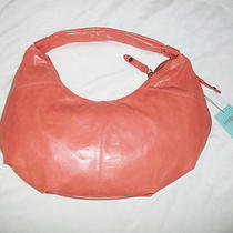 Nwt Hobo International Gabrielle Hobo Style Coral Pink Leather Shoulder Bag Photo