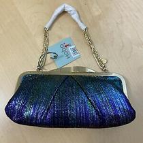 Nwt Hobo International Hayward Iridescent Stripe Leather Clutch - Sold Out  Photo