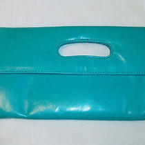 Nwt Hobo International Katrina Turquoise Aqua Leather Clutch Photo
