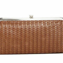 Nwt Hobo Lauren Tan Leather Double Frame Clutch Wallet Embossed Russet Rare Photo