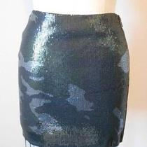 Nwt Hot New 290 Cut25  Yigal Azrouel Camouflage Print Sequin Mini Skirt 10 Photo