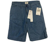 Nwt Hudson Chambray Denim Chino Shorts Girls Size 10 Photo