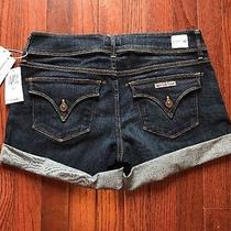 Nwt Hudson Croxley Mid Thigh Denim Rolled Shorts in Elemental Size 28 Photo