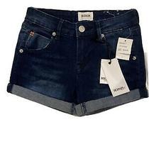 Nwt Hudson Girls Roll Cuff Demin Short Girls Size 12 Photo