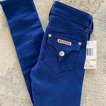 Nwt Hudson Jeans Denim Navy Skinny Slim Stretch Boutique Pants Girls 7 New Photo