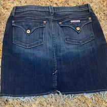 Nwt Hudson Womens Blue Denim Distressed Raw Hem Misi Skirt Sz 30 Med Wash Photo