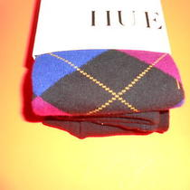 Nwt  Hue Argyle Sweater Tights  Black Blue Red Size Xs/s Photo