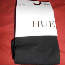 Nwt  Hue Flat Knit Sweater  Black Tights  Size Xs-S Photo