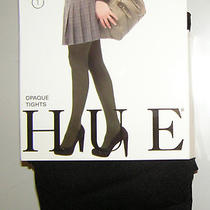Nwt Hue Opaque Tights Size 1 Black  Photo